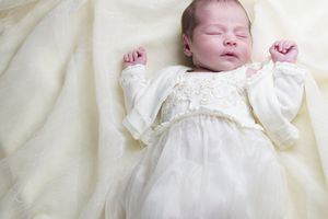 baby in baptism outfit