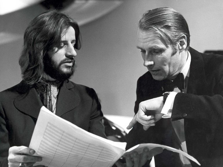 George Martin and Ringo Starr