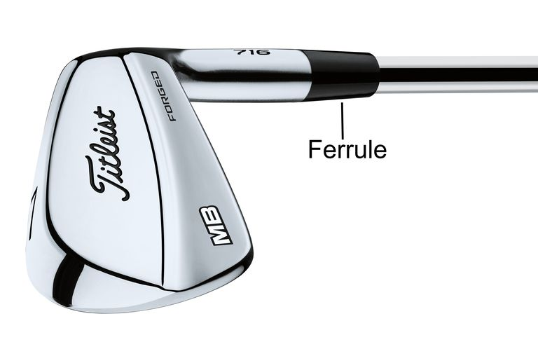 A Titleist iron with its ferrule pointed out