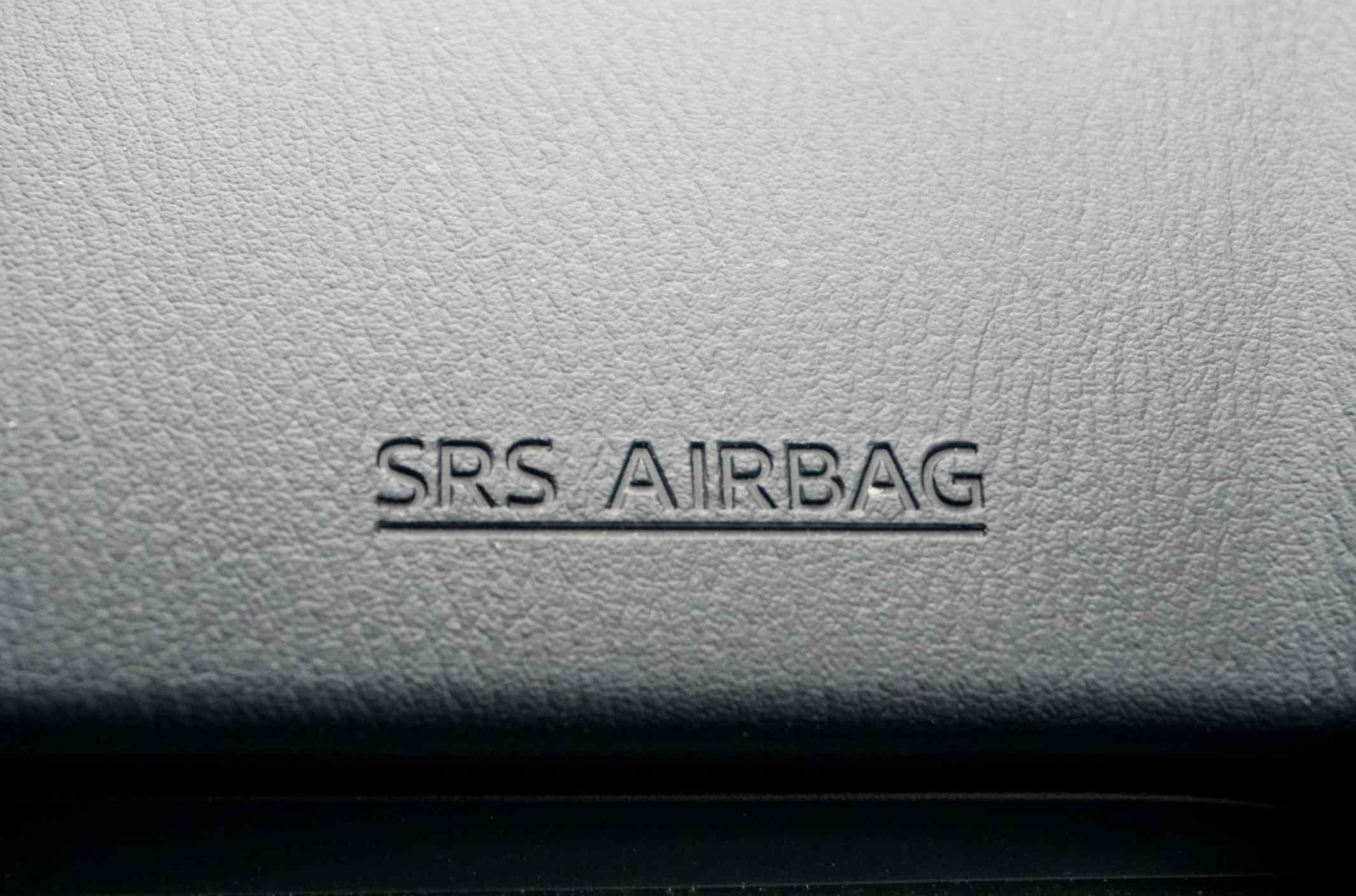 Airbag branding in car