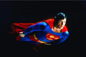 Actor Christopher Reeve in Superman II (1980)