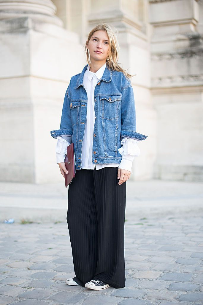 Spring Fashion How To Wear A Denim Jacket And Skirt