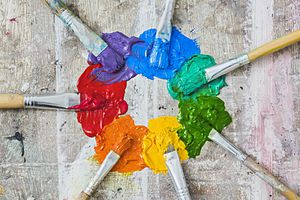 Color wheel in paint