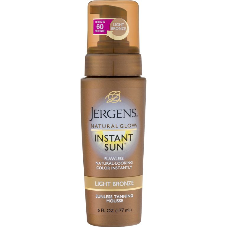 0d8c7293c16d Best Overall  Jergens Natural Glow Instant Sun Light Bronze Tanning Mousse