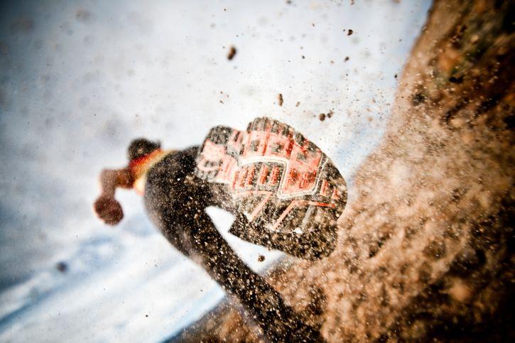 Action shot of running
