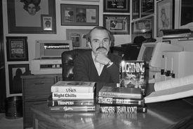 Dean Koontz Sitting at His Desk