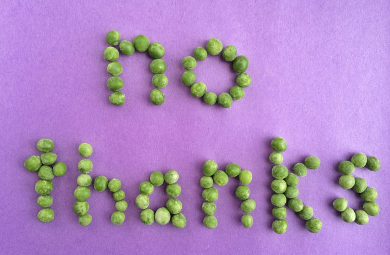 the words no thanks spelled with some limes