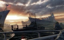Battle ships amassing in Call of Duty: Black Ops