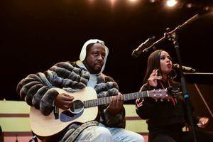 Wyclef Jean performing