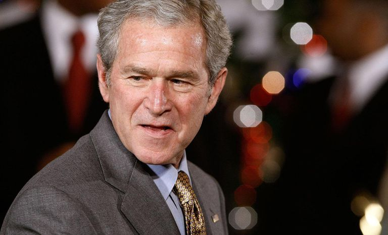President And Mrs. Bush Attend Children's Holiday Reception