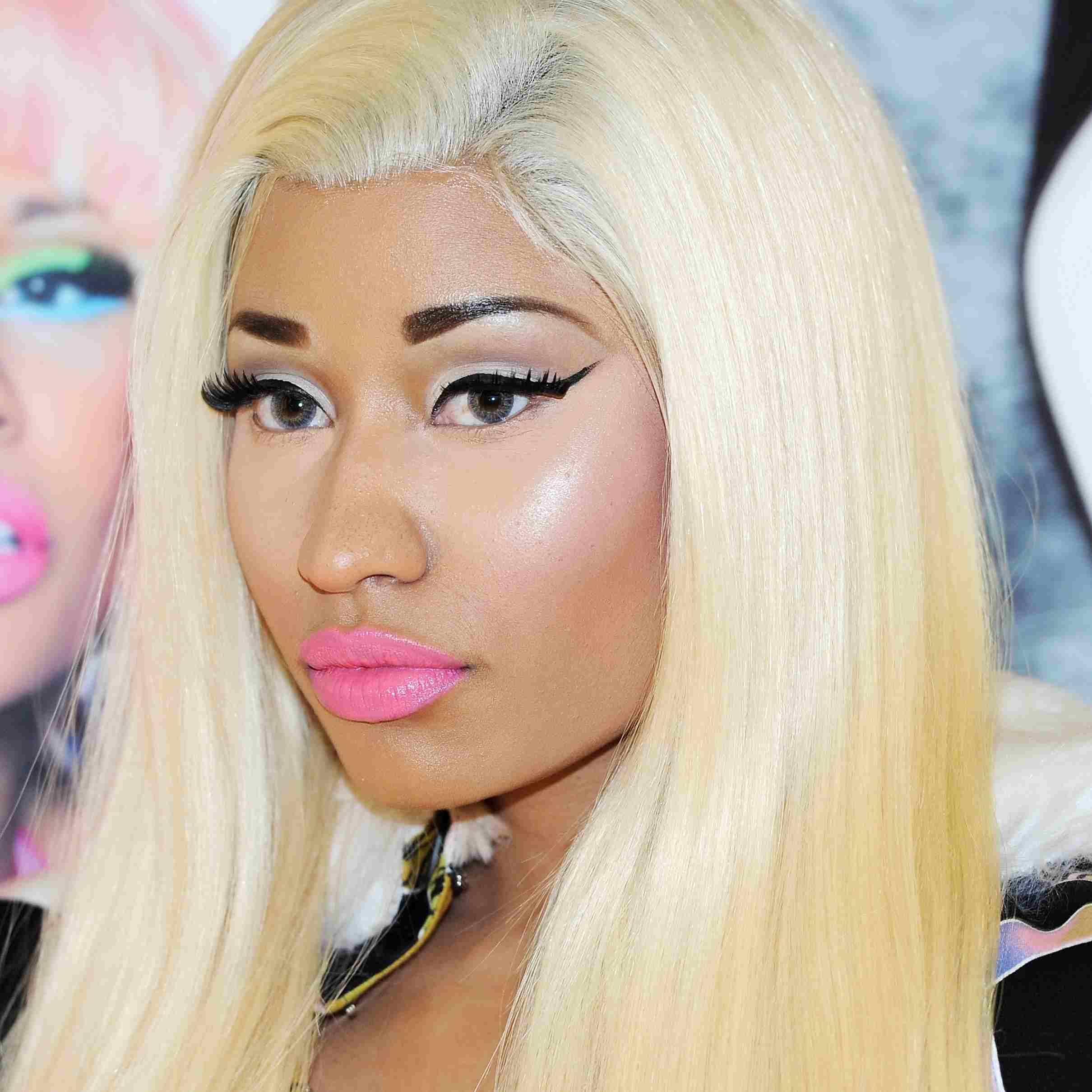 Nicki Minaj in lace front wig