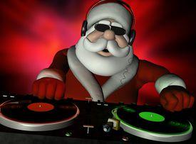 Santa the DJ