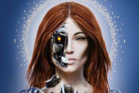 A cyborg woman