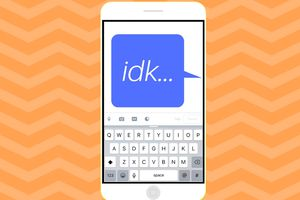Illustration of IDK on a phone screen