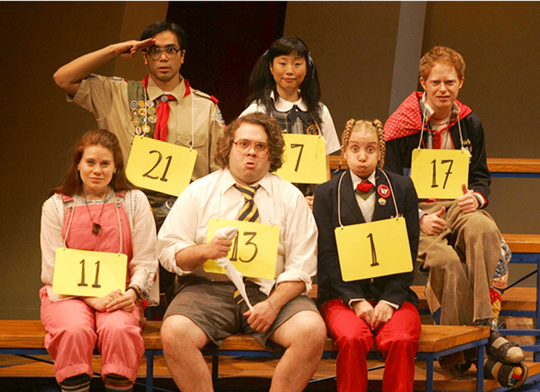 The Broadway cast of Spelling Bee