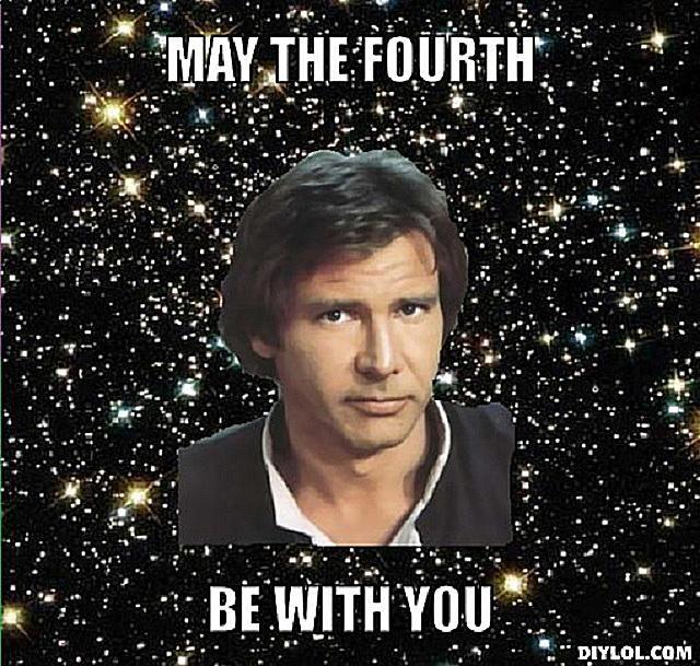 A May 4th meme with Luke Skywalker