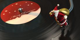 Christmas themed record player