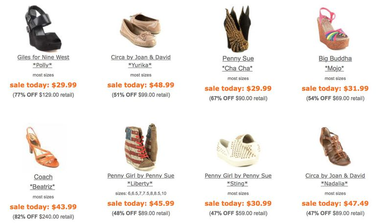 Gotham City Online sells designer shoes for less.