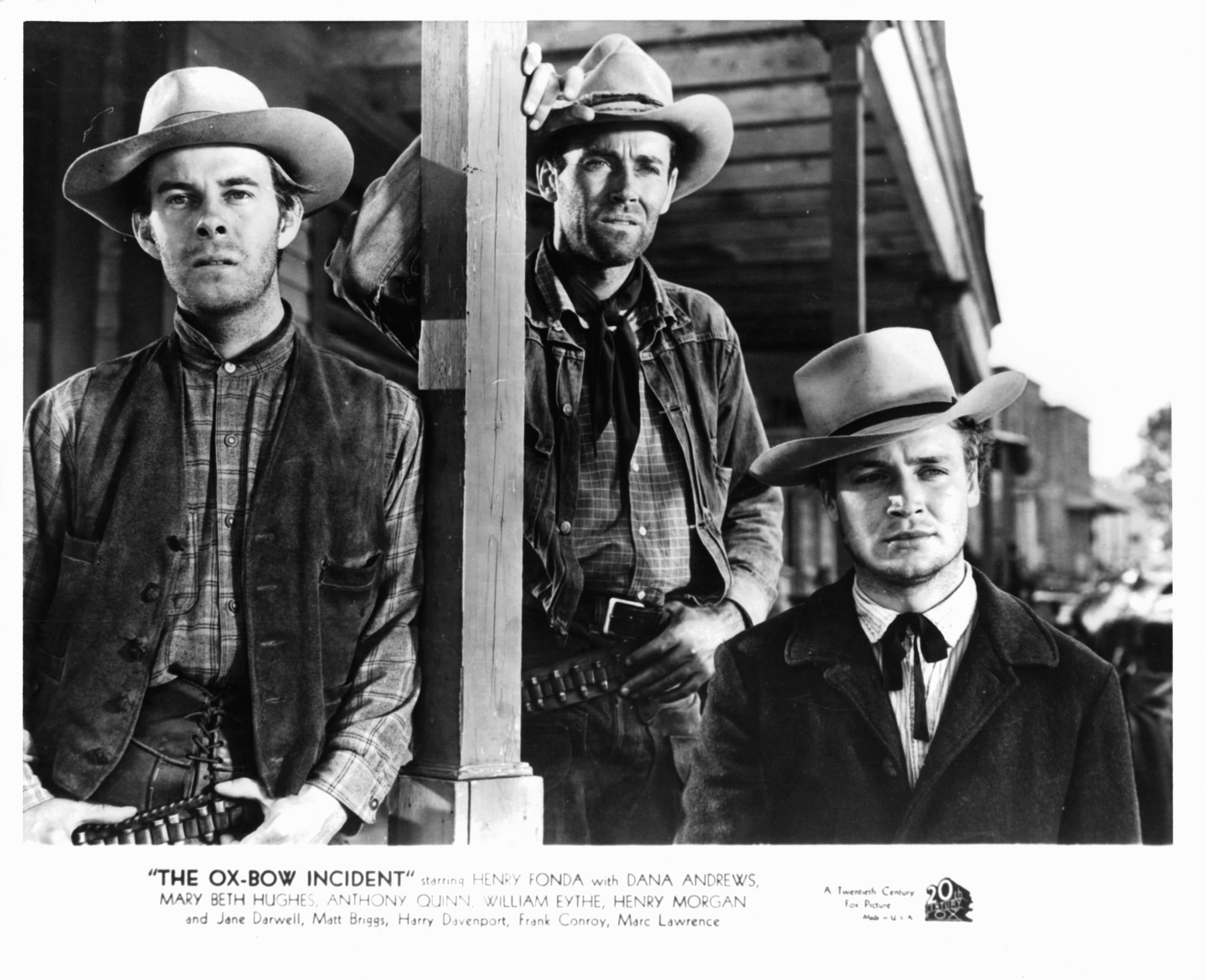 Harry Morgan And Henry Fonda In 'The Ox-Bow Incident'