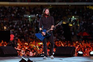 Dave Grohl onstage at Foo Fighters concert