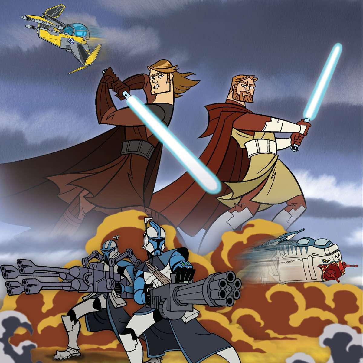 'Clone Wars' Aankin Skywalker and Obi Wan Kenobi