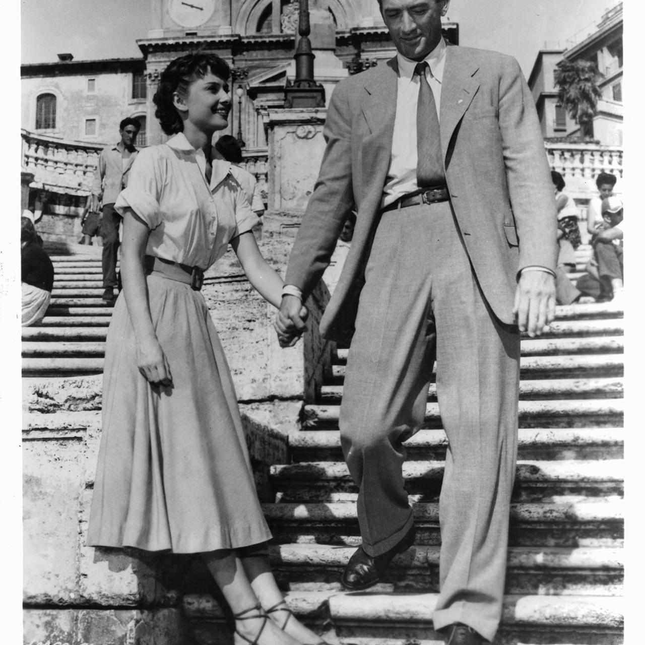 Audrey Hepburn And Gregory Peck In 'Roman Holiday'