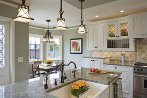 Image of an upgraded kitchen, illustrating About.com's House and Garden Sweepstakes.