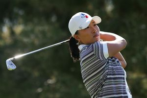 Se Ri Pak of South Korea makes a tee shot on the 17th hole during the third round of the LPGA Kraft Nabisco Championship at the Mission Hills Country Club on March 31, 2007 in Rancho Mirage, California.