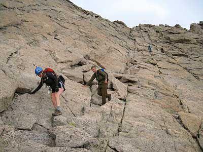 Description Of Climbing Longs Peak