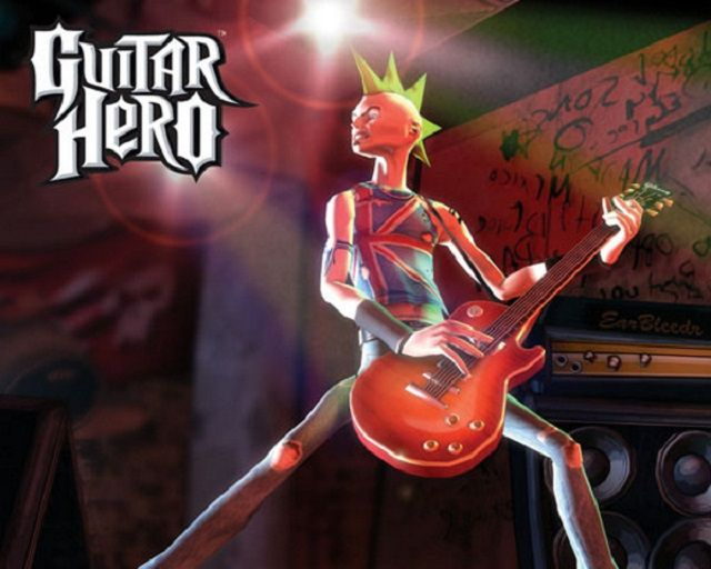 Guitar-playing character in Guitar Hero for PS2