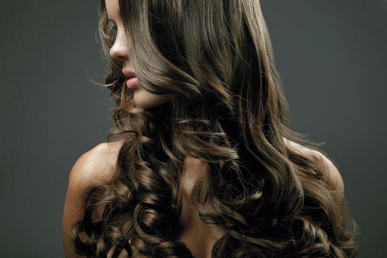 long, wavy hair