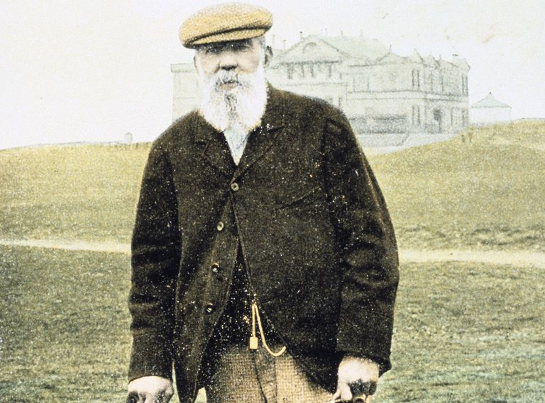 Golf legend Old Tom Morris circa 1900
