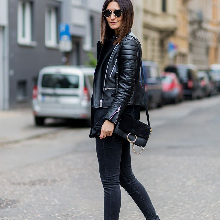 d33089a42d5 28 Easy, Chic Ways to Wear Jeans and a Leather Jacket