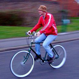 Guy on a bike