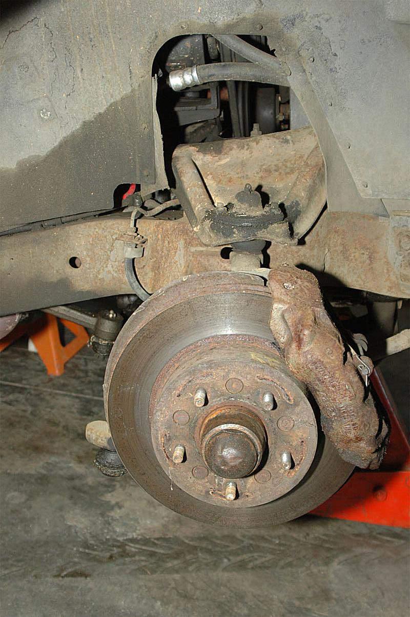 Rusty Corvette Parts