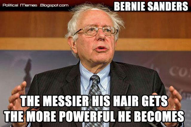 Bernie Sanders Messy Hair Powerful