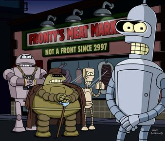 Bender and the Robot Mafia on Futurama
