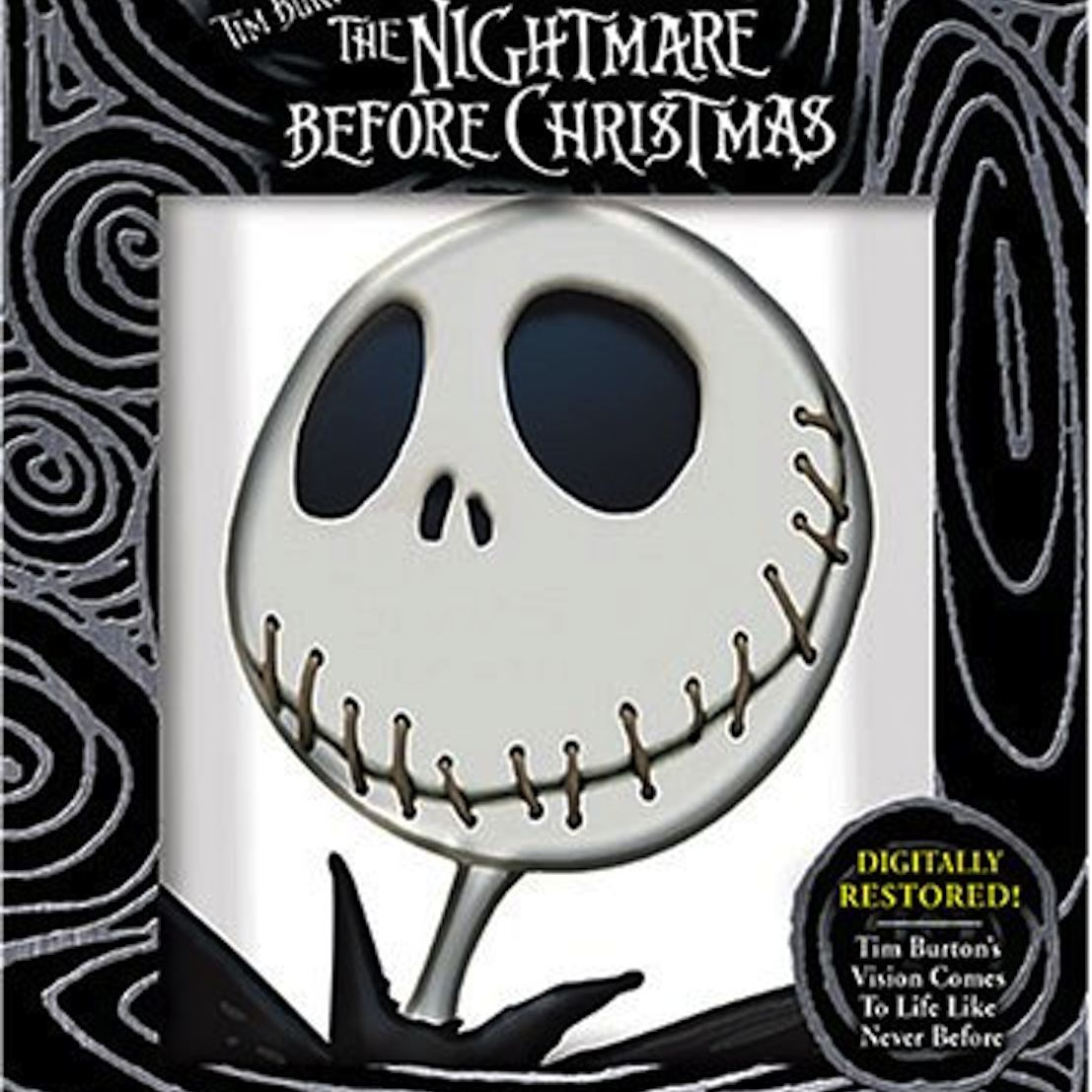 """""""The Nightmare Before Christmas"""" DVD cover."""