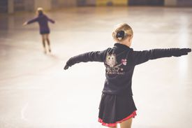 Figure Skaters Practicing on ice