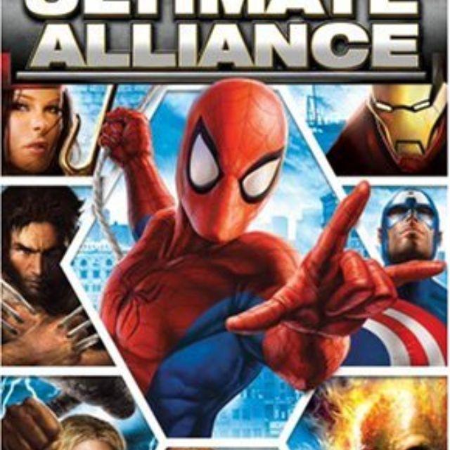 Marvel: Ultimate Alliance game jacket for PSP