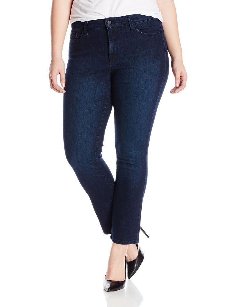 04d20d951c9 Choose a Dark Wash Jean. NYDJ Sheri Skinny Plus Size Jeans