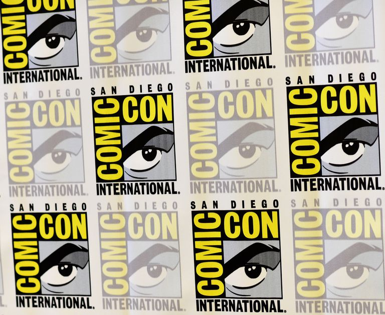 Comic-Con International San Diego logos.