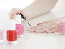Woman doing nails