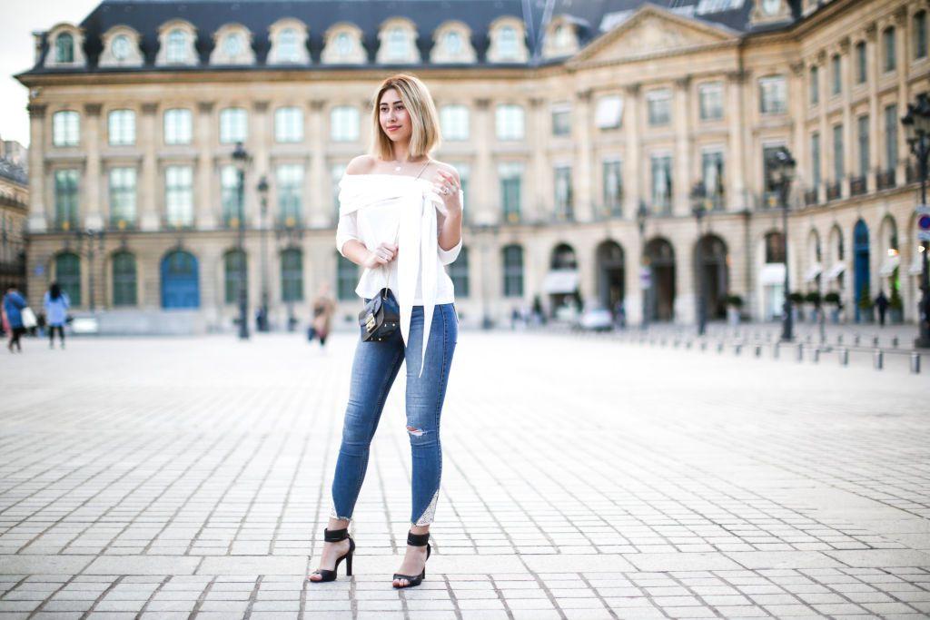 Paris street style in skinny jeans
