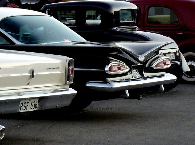 back of a car that makes it look like a vampire car