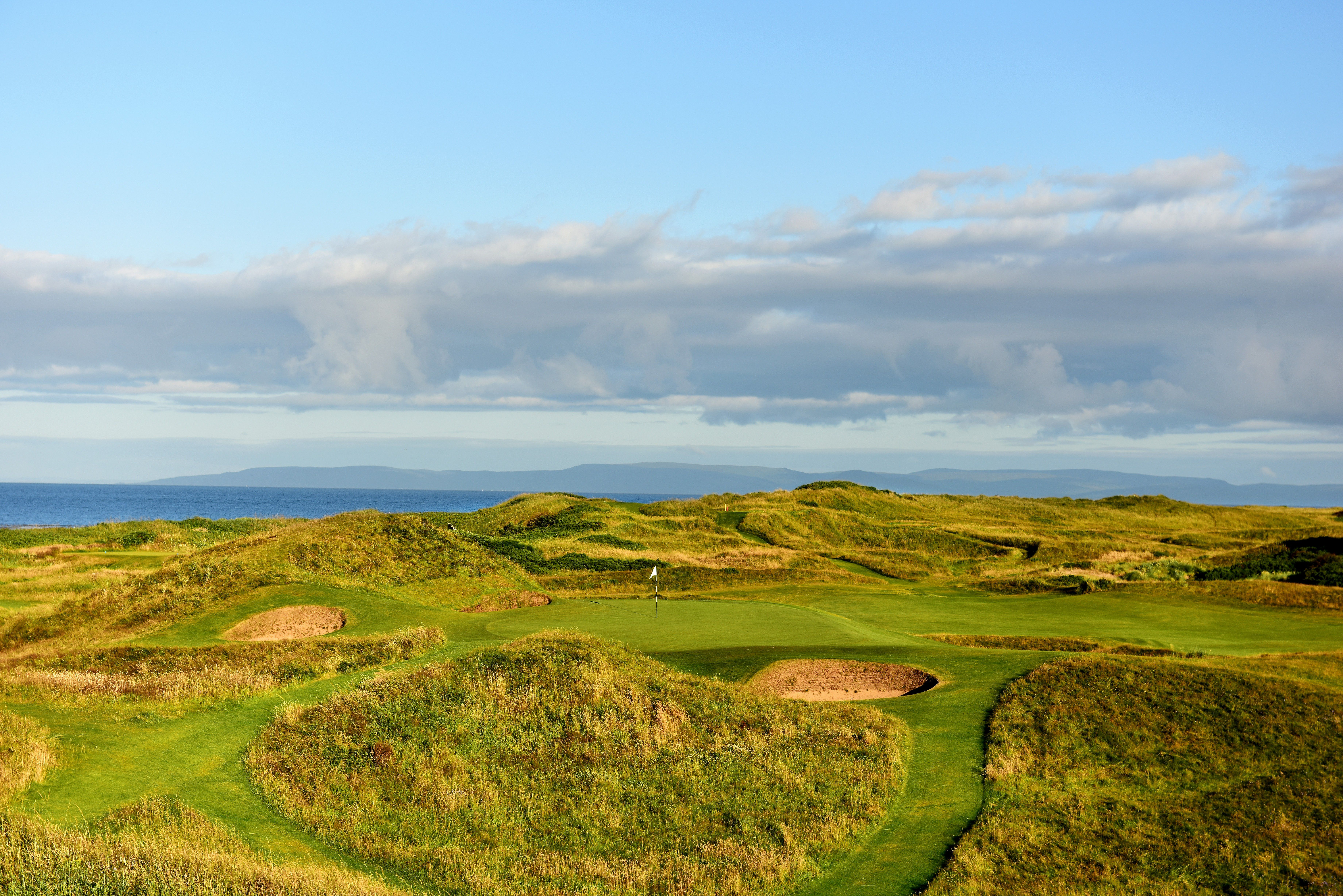 The 123 yards par 3, 8th hole Postage Stamp on the Old Course at Royal Troon