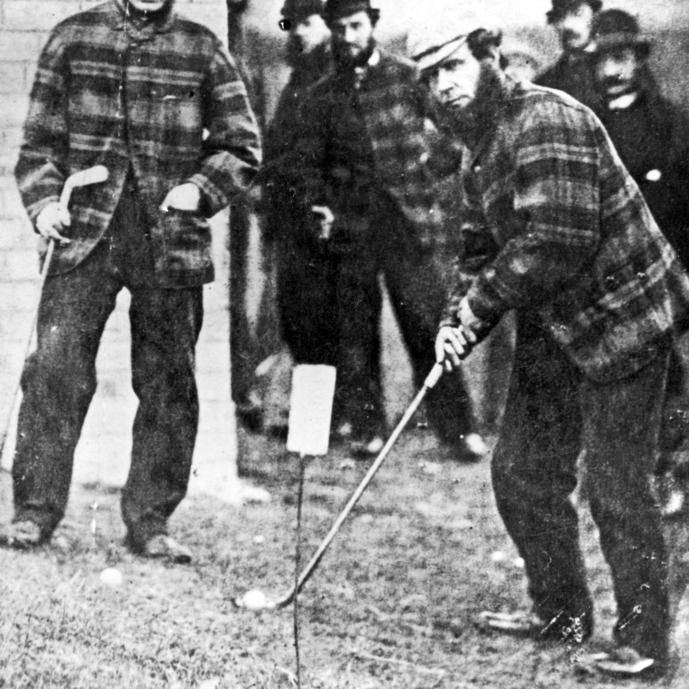 Tom Morris Sr. pictured at Prestwick around 1860