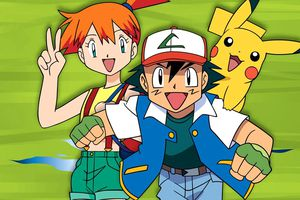 Misty, Ash and Pikachu from Pokemon