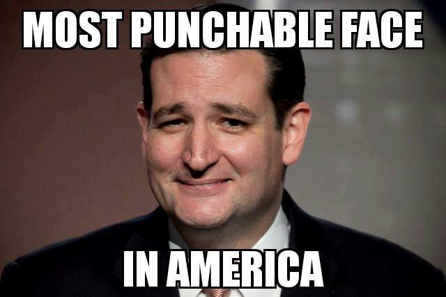 Ted Cruz Punch in Face