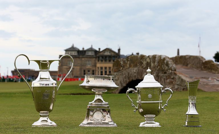 Women's major championship trophies